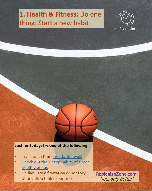 For today: start a new habit
